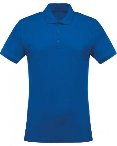 Polo casual manches courtes personnalisable bleu roi