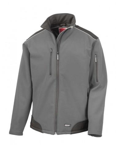Softshell coupe-vent respirant, durable et chaud personnalisable gris