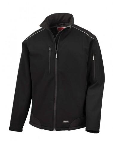 Softshell coupe-vent respirant, durable et chaud personnalisable noir