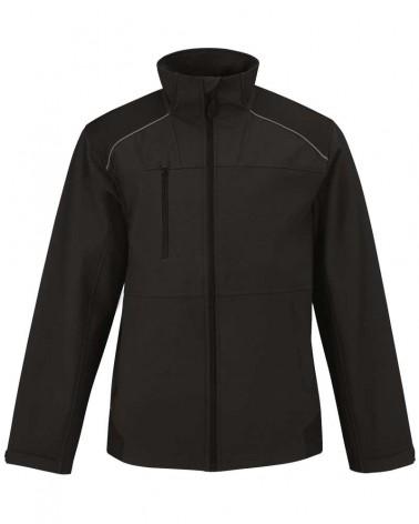 Veste Softshell Pro 3 couches personnalisable - Coloris noir