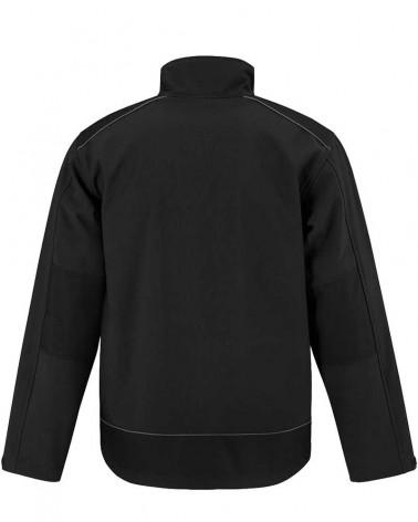 Veste Softshell Pro 3 couches Ripstop avec renforts - Noir