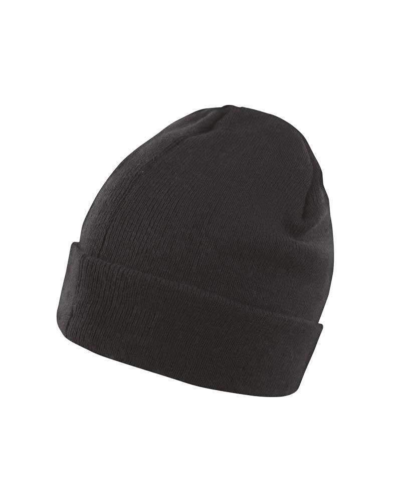 Bonnet chaud et léger et isolant Thinsulate™ mixte - Noir