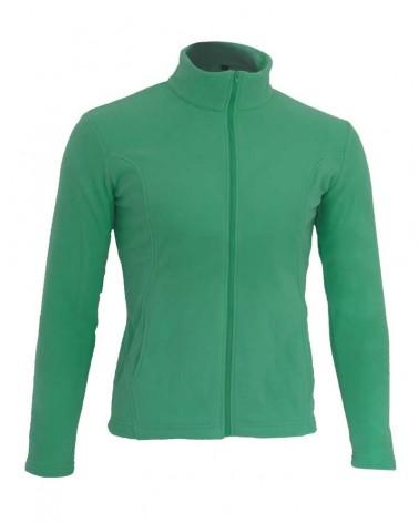 Gilet zippé avec manches en vert d'eau