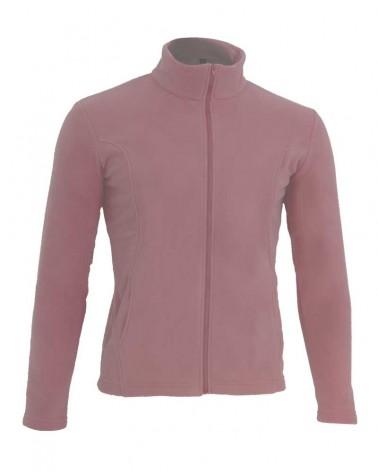 Veste, gilet zippé avec manches en couleur rose
