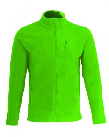 Veste, gilet zippé avec manches en couleur chartreuse