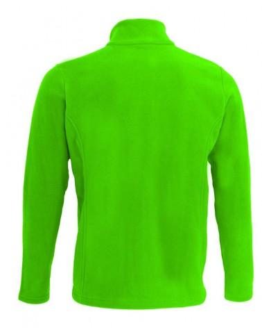 Veste, gilet zippé avec manches en couleur vert chartreuse pour hommes
