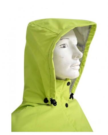 Coupe vent coutures étanches pour femme vert chartreuse
