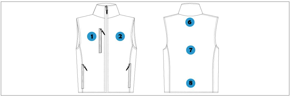 marquage Gilet Softshell 3 couches
